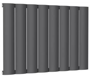 Reina Belva Anthracite Aluminium Single Panel Horizontal Radiator 600mm x 828mm