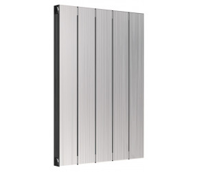 Reina Polito Polished Aluminium Horizontal Radiator 600mm x 416mm