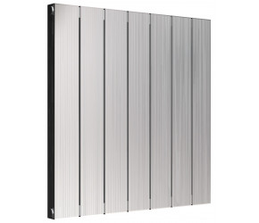Reina Polito Polished Aluminium Horizontal Radiator 600mm x 584mm