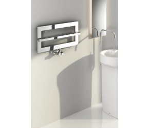 Reina Breno Chrome Designer Towel Radiator 350mm High x 700mm Wide