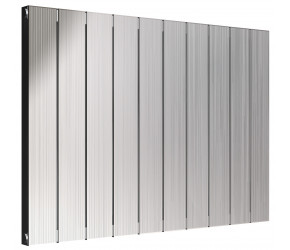 Reina Polito Polished Aluminium Horizontal Radiator 600mm x 836mm