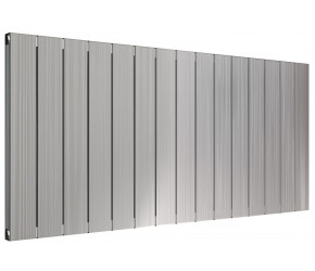 Reina Polito Polished Aluminium Horizontal Radiator 600mm x 1256mm