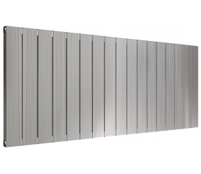 Reina Polito Polished Aluminium Horizontal Radiator 600mm x 1424mm