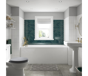 Edit: BC Designs Solid Blue Modica Single Ended Bath 1500mm x 700mm