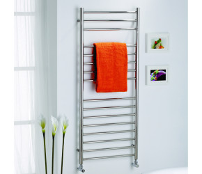 Kartell Orlando Polished Stainless Steel Straight Towel Rail 720mm x 500mm