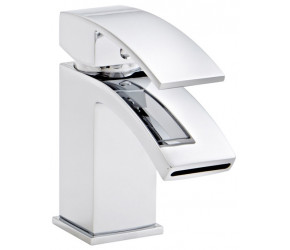 Kartell Flair Chrome Mono Basin Mixer Tap With Clicker Waste