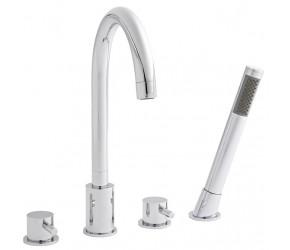 Kartell Plan Chrome 4 Hole Bath Shower Mixer Tap