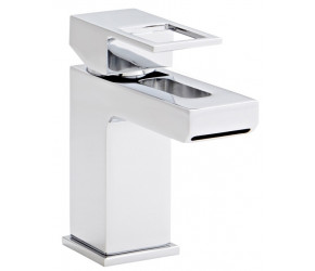Kartell Kourt Chrome Mono Basin Mixer Tap With Clicker Waste