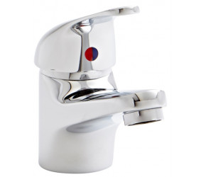 Kartell Koral Chrome Mono Basin Mixer Tap With Clicker Waste
