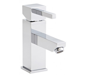 Kartell Pure Chrome Mono Basin Mixer Tap With Clicker Waste