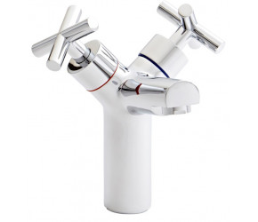 Kartell Times Chrome Branch Mono Basin Mixer Tap With Clicker Waste
