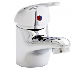 Kartell G4K Chrome Mono Basin Mixer Tap With Clicker Waste