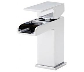 Kartell Phase Chrome Mini Mono Basin Mixer Tap With Clicker Waste