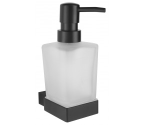 Iona Shadow Matt Black Soap Dispenser