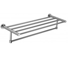 Iona Glisten Chrome Bath Towel Shelf Rack