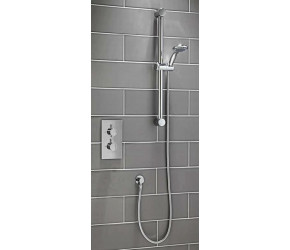 Iona Round Concealed Thermostatic Shower Valve With Riser Kit