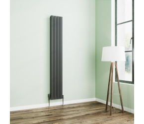 Wyvern Anthracite Flat Single Panel Vertical Radiator 1800mm x 272mm