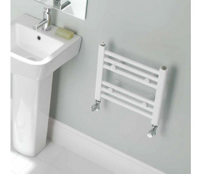 Eastbrook Biava Multirail White Straight Heated Towel Rail 360mm x 400mm