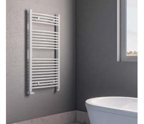 Eastbrook Biava Multirail White Curved Heated Towel Rail 1118mm x 450mm