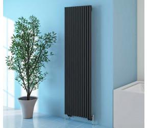 Eastbrook Rowsham Matt Anthracite Designer Vertical Radiator 1800mm x 300mm