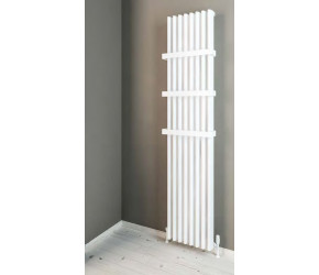 Eastbrook Witney Matt White Vertical Aluminium Radiator 1800mm x 375mm