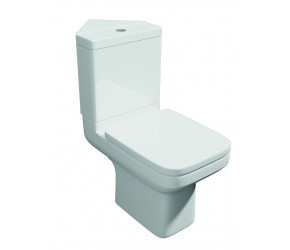 Kartell Trim Close Coupled Corner Toilet with Soft Close Seat