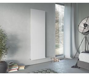 Eucotherm Mars Plus White Vertical Flat Single Panel Designer Radiator 1800mm x 450mm