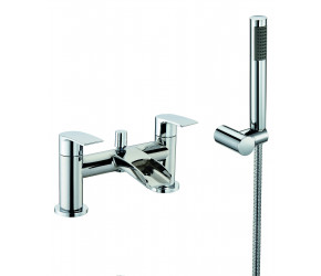 Trisen Merion Chrome Two lever bath Shower Mixer Tap With Kit