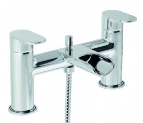 Trisen Ganton Chrome Two Lever Bath Shower Mixer Tap With Kit