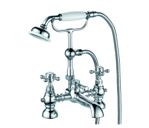 Trisen Formby Chrome Two Handle Bath Shower Mixer Tap With Kit