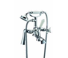 Trisen Wisley Chrome Two Handle Bath Shower Mixer Tap With Kit