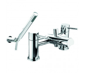 Trisen Grove Chrome Two Handle Bath Shower Mixer Tap With Kit