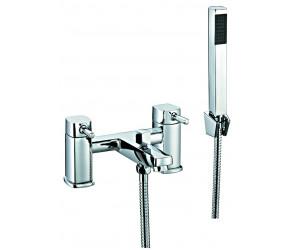 Trisen Arden Chrome Two Handle Bath Shower Mixer Tap With Kit