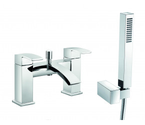 Trisen Knole Chrome Two Handle Bath Shower Mixer Tap With Kit