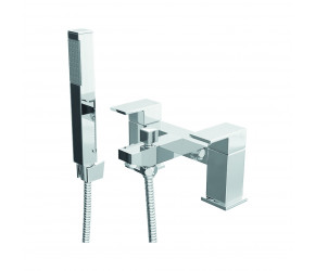 Trisen Hiron Chrome Two Handle Bath Shower Mixer Tap With Kit