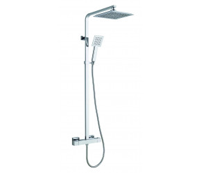 Trisen Zacha Chrome Square Adjustable Thermostatic Shower