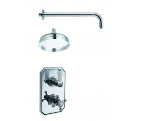 Trisen Everi Chrome Fixed Overhead Concealed Thermostatic Shower