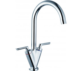 Trisen Starn Chrome Two Handle Kitchen Mixer Tap