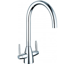 Trisen Roune Chrome Two Handle Kitchen Mixer Tap