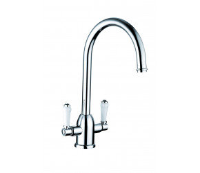 Trisen Jerem Chrome Two Handle Kitchen Mixer Tap