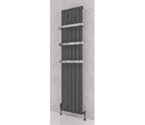 Eastbrook Sandhurst Vertical Aluminium Matt Anthracite Designer Radiator 1800mm x 485mm