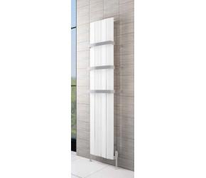 Eastbrook Fairford Matt White Vertical Aluminium Radiator 1800mm x 565mm