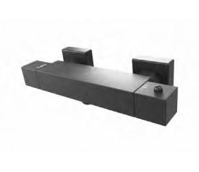 Eastbrook Smooth Black Exposed Square Bar Shower Valve