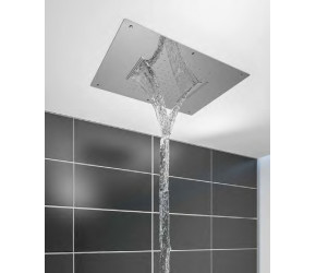 Eastbrook Double Ceiling Mounted Waterfall Stainless Steel Shower Head