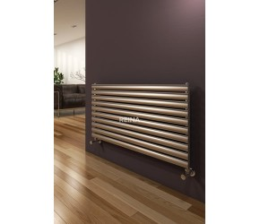 Reina Artena Single Panel Brushed Stainless Steel Radiator 590mm x 400mm