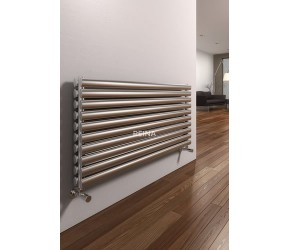 Reina Artena Double Panel Brushed Stainless Steel Radiator 590mm x 1000mm