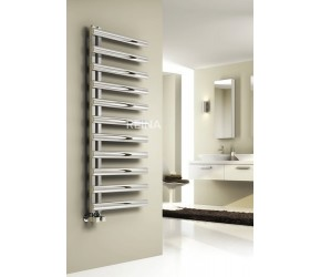 Reina Cavo Brushed Stainless Steel Towel Rail 880mm High x 500mm Wide