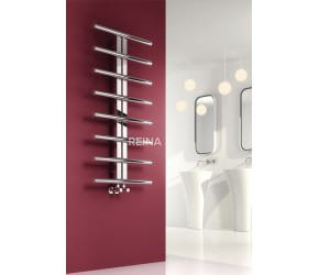Reina Pizzo Polished Stainless Steel Designer Towel Rail 1000mm High x 600mm Wide