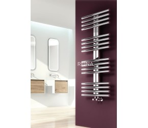 Reina Sorento Polished Stainless Steel Towel Rail 800mm High x 600mm Wide
