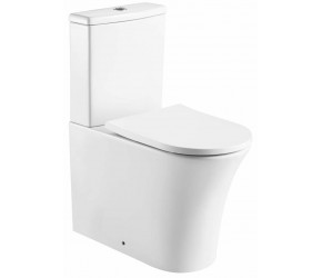 Kartell Kameo Rimless Close To Wall Close Coupled Toilet With Soft Close Seat